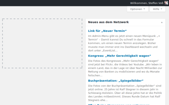 Screenshot: Neues aus dem Netzwerk